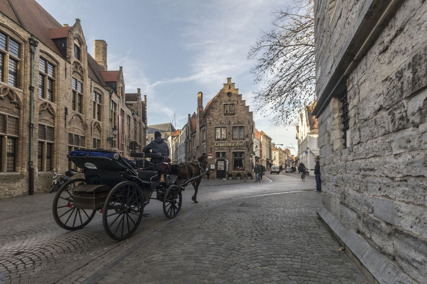 Walking in a carriage Architecture City Transportation Travel Destinations Building Exterior