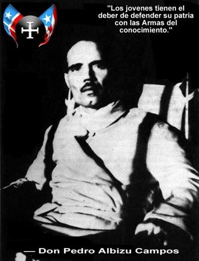 Puerto Rican Nationalist Don Pedro Albizu Compas What Does Freedom Mean To You? Harvard Graduate Military Veteran United States Killed Him Because He Wanted To Teach Puerto Ricans The Real History