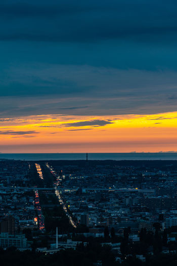 Hokkaido Japan Aerial View Architecture Building Building Exterior Built Structure City City Life Cityscape Cloud - Sky Dusk High Angle View Horizon Illuminated Nature No People Outdoors Pollution Residential District Sapporo Sky Sunset