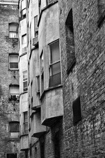 Tenderloin San Francisco Architecture Bay Window Concrete Street Photography Black And White Urban Landscape Squalor