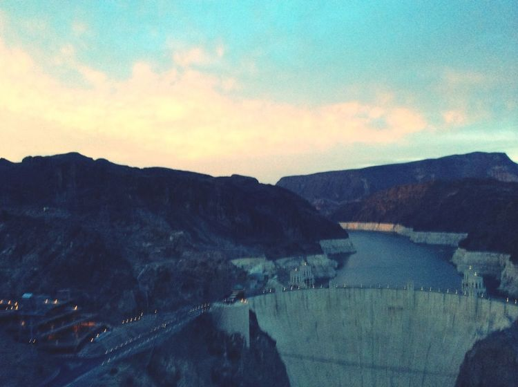 Sunset Silhouettes Sunset Hoover dam