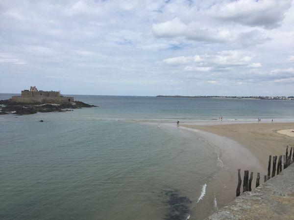 Beach Beauty In Nature Cityscape Destination Scenics Sea Sky St. Malo Tourism Tranquil Scene Water