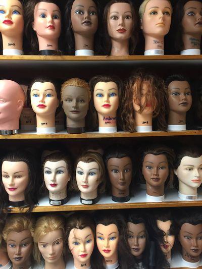 Hair Style Manakin Hair Women Heads Cosmetology Mannequins Mannequin Store Retail  Representation Variation Choice