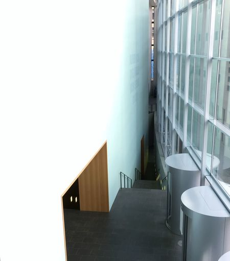 Absence Architecture Building Built Structure Corridor Day Diminishing Perspective Empty Könnte Eng Werden... Lyrics On The Wall Modern Narrow Neues Museum Nürnberg No People Shadow On The Wall Sunbeam The Way Forward
