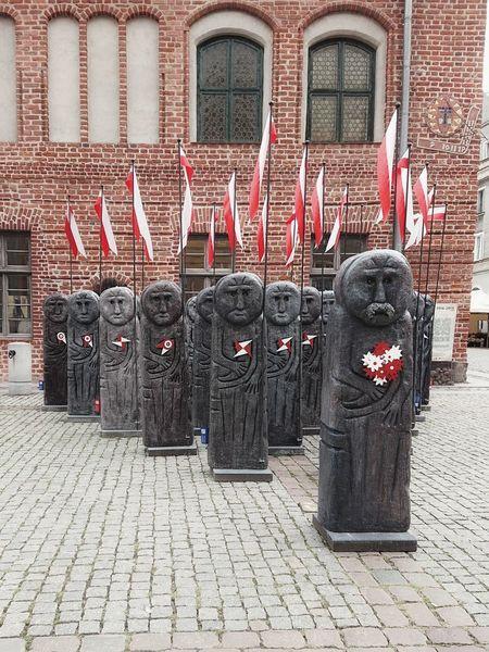 Poland 11.11.2018 Flag Independence Day Independence Day Warmia Olsztyn Polish Flag Poland City Niepodleglosc Flaga Polski Polska Red City Architecture Building Exterior Built Structure EyeEmNewHere