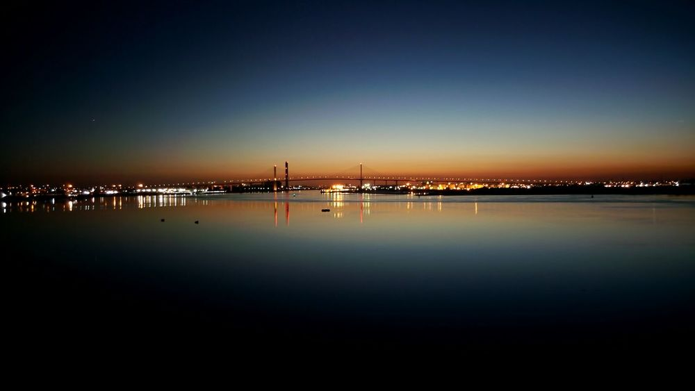 Night skyline over the Thames Night LightsNight View Night Photography Night Sky Night Shot Night City Night Life Night Skyline At Sunset  Skyline At Night Skyline View Skyline Bridge Skyline River View River Thames River Thames River Dartfordcrossing Bridge - Man Made Structure Bridges Thames Water Reflections Reflections