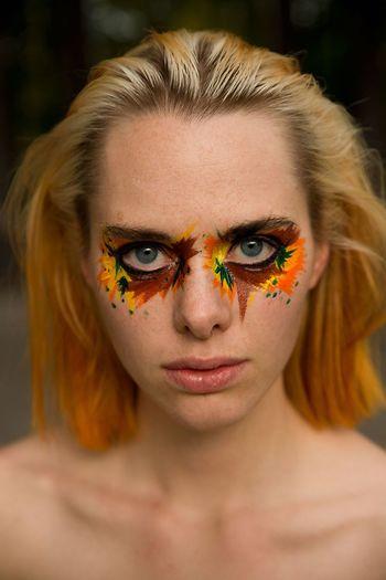 Color eyes. Model Portrait Of A Woman Portrait Portrait Photography Blonde BlueEyes Makeup Acrylic Autumn Autumn Colors Nikond600 Tamron2470 Sweden