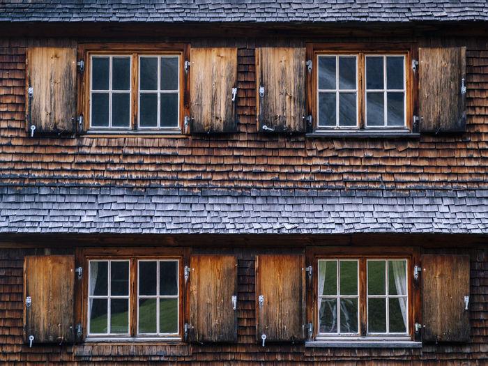 Full frame shot of wooden building