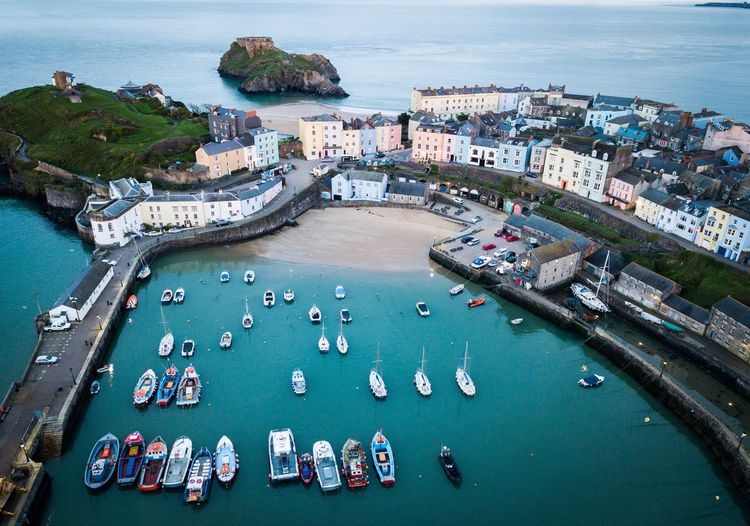 Tenby Drone Photography Dronephotography Drone  Wales Tenby High Angle View Water Sea Built Structure Nautical Vessel City Transportation Nature Architecture Day Harbor Beach Aerial View Outdoors Land Travel Destinations Travel Bay