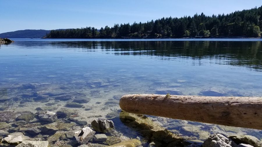 Saltspring Island Clear Sky Beauty In Nature Horizon Over Water No People Nature Sky Water Blue Sea