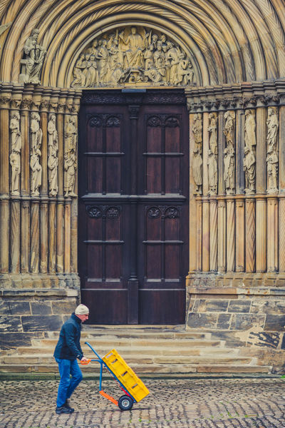 Bamberg Cathedral Adult Architecture Bamberg Cathedral Building Exterior Built Structure Day Deutschland Dom Bamberg Full Length Germany Men One Person Outdoors People Real People Standing UNESCO World Heritage Site Walking