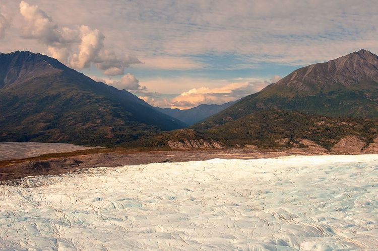 Knik Glacier Exploring Helicopter Ice Nikon Travel USA Alaska Beauty In Nature Clouds And Sky Day Exclusive Shot Glacier Knik River Landscape Mountain Mountains Nature Nikkor No People Outdoors Rock - Object Scenics Sky Tranquil Scene Tranquility