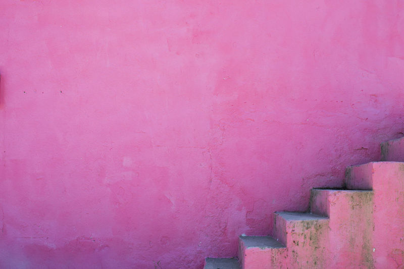 Architecture Building Exterior Built Structure Close-up Day Development Growth No People Outdoors Pink Color Rise Steps Steps And Staircases Wall - Building Feature