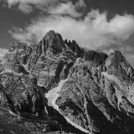 Mountains around the Dolomites nationalpark Alpen Dolomites, Italy Nature Südtirol Alps Beauty In Nature Black Contrast Day Italy Nature No People Outdoors Physical Geography Rock - Object Rock Formation Scenics Sky Tranquil Scene Tranquility White