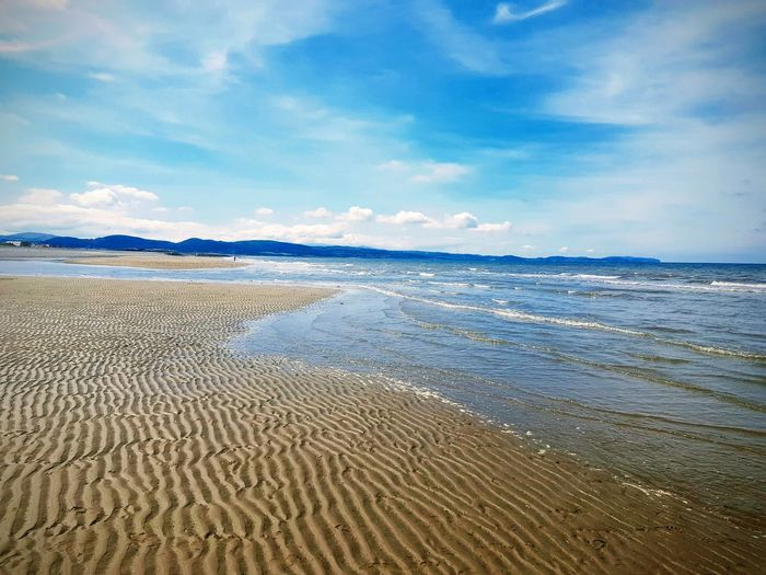 a little bit of paradise Water Low Tide Sea Beach Sand Wave Sand Dune Blue Tide Sky Seascape Coast Horizon Over Water Coastal Feature Shore Sandy Beach Coastline