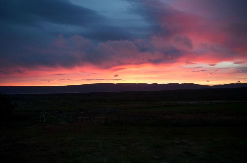 Beauty In Nature Cloud Iceland Majestic Orange Color Sky Sunset Tranquil Scene