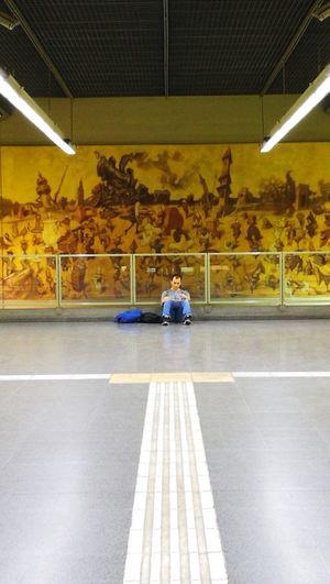 Tranquilidad subterranea. Subte Linea H One Person Adult One Man Only Sitting Transportation Buenos Aires, Argentina  Argentina Photography City Subway Station Estacion Venezuela