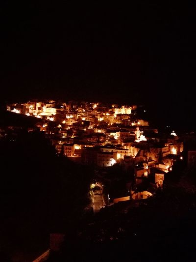 La notte Ibla Ragusa Ibla, Sicily Siciliabedda Sicilia Sicily Ragusa Ibla Notte Luci Notte Di Fiaba Illuminated Flame Heat - Temperature Burning Sky