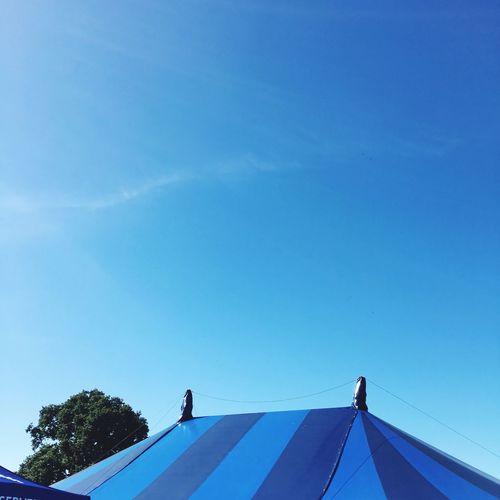 Big top 2 Circus Tent Big Top Blue Sky Sky Blue Nature Tree Day No People Clear Sky Low Angle View Sunlight Copy Space Built Structure Outdoors