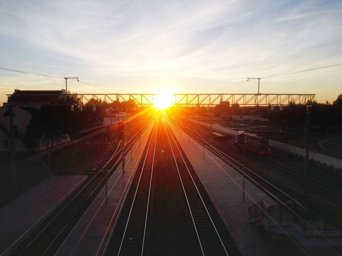 Huawei Ascend P7 закат🌇 Enjoying Life Railway