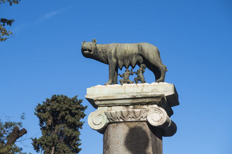 Capitoline Wolf sculpture with Romulus and Remus at Capitoline Hill Rome Italy. This she wolf bronze sculpture depicts the story of the twin founders of Rome. Capital Cities  Capitoline Rome Capitoline Rome Bronze Sculpture Italia Italian Italy Landmark Landmarks Monument Roma Roman Rome Rome Italy Romulus And Remus Sculpture Sculpture She Wolf Sculpture Tourism Tourist Attraction  Tourist Destination Travel Destinations Travel Photography Traveling Moving Around Rome