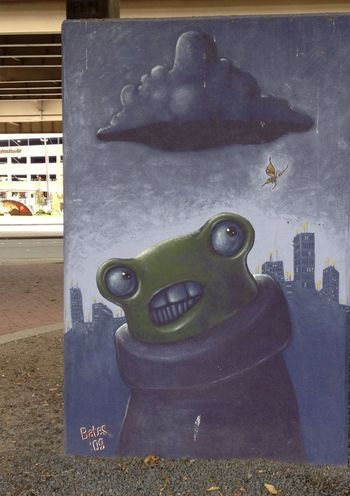 Dallas-Streetart Crazy Art Lol!!