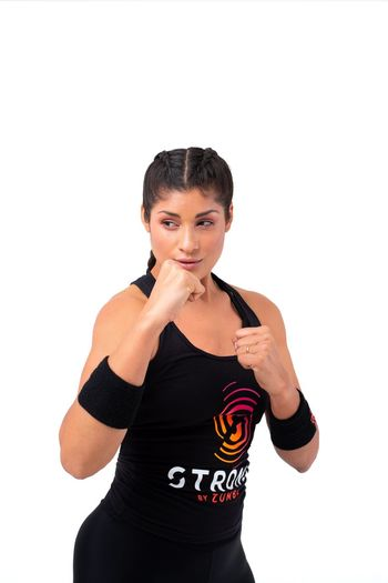 White Background Front View Studio Shot One Person Lifestyles Strong Strong By Zumba Zumba Zumba Fitness Sports Clothing Sportive Sportivegirl Active Wear Beautiful Woman Fitness Model Attitude Training HIIT