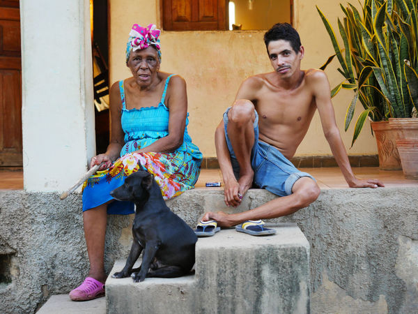 Hanging out in Trinidad, Cuba. Adult Adults Only Archival Day Friendship Full Length Multi Colored Outdoors People Portrait Shirtless Sitting Smiling Togetherness Two People Young Adult Young Women