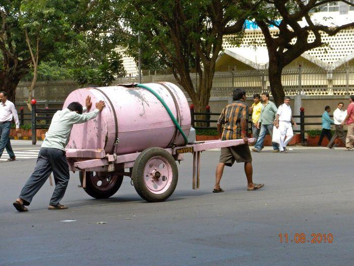 Mode Of Transport Street Outdoors City Life Hard Labor India