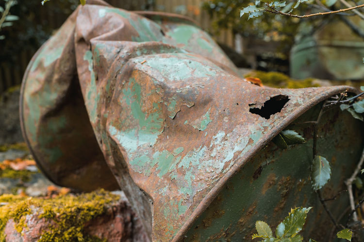 Close-up of old rusty metal