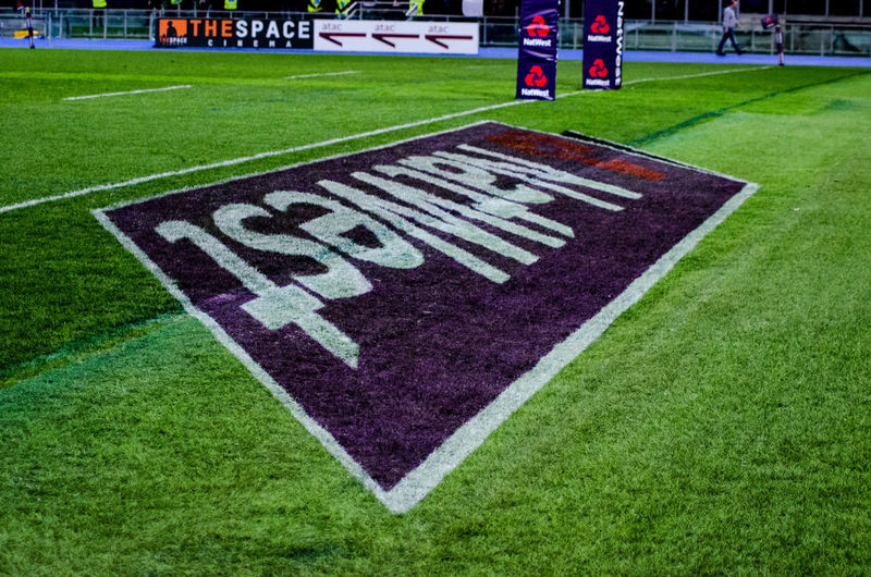 Creative The Creative - 2018 EyeEm Awards Green Lines Stadium Day Grass Green Color Natwest No People Outdoors Rugby Stadium