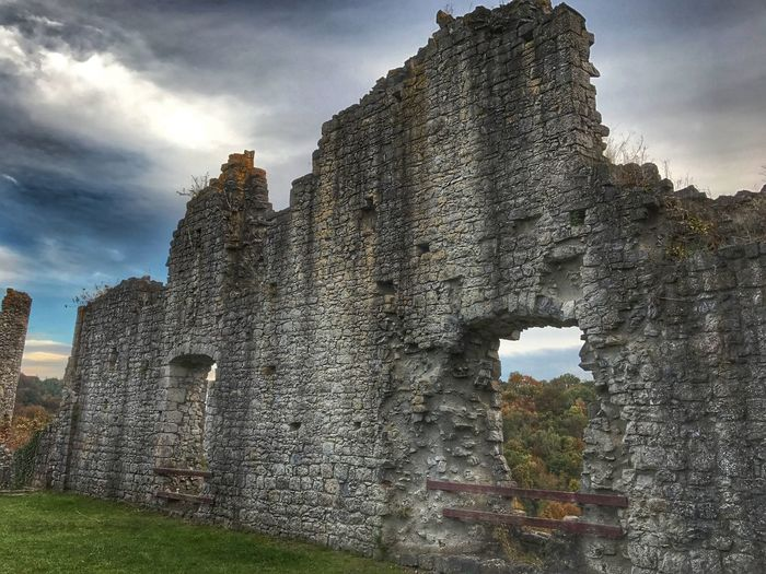 Ruines de Montaigle Medieval Fortified Wall History Ardennes Anhee Belgium Falaen Onhaye