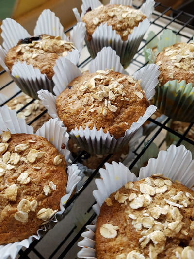 Muffins Baking Baking Time Baking A Cake Baking Muffin Wholemeal Oatmeal