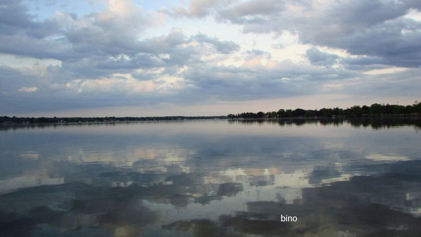 From The Archives At The Lake Evening Walk Big Sky Country Cool Cloud Formations Reflection_collection Lake Cadillac Pure Michigan