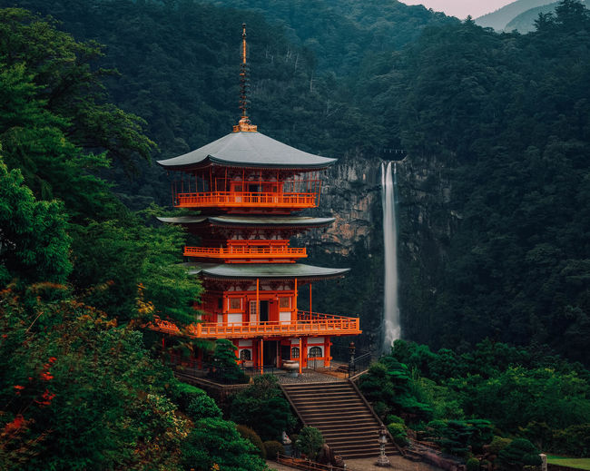 Temple by nachi falls