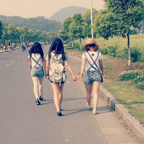 goodmorning Girls Zust Hangzhou China school schoollife schoolgirl summer street unversity