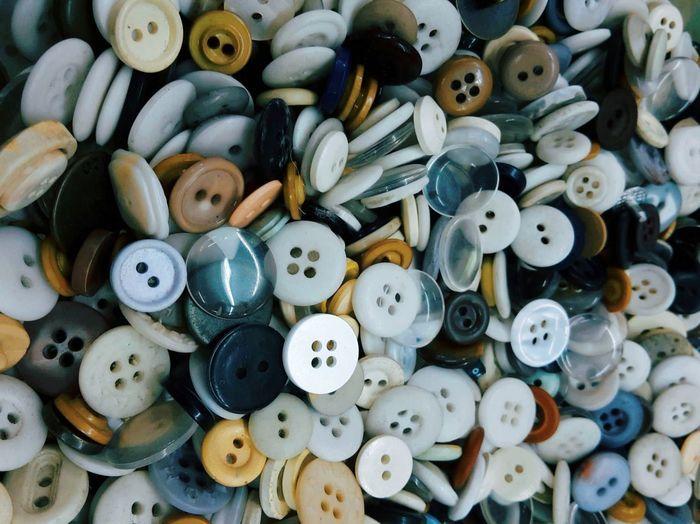 Full frame shot of various buttons