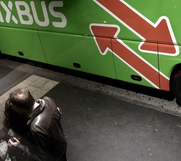 xBus Real People Communication High Angle View People Men Transportation Mode Of Transportation