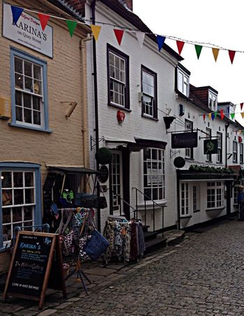 New Forest coastal town of Lymington. Old Buildings England Bunting