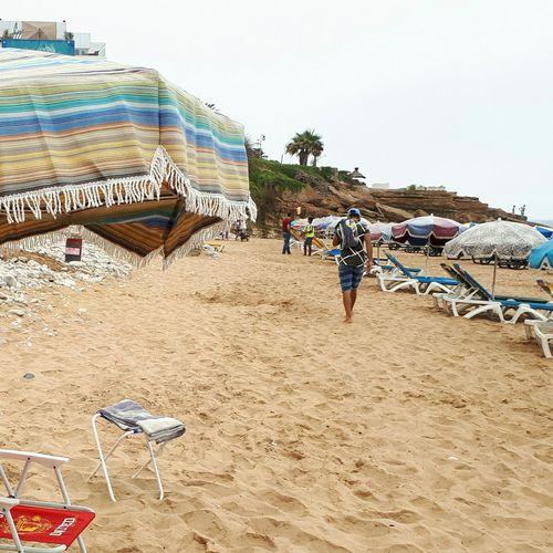 Sand Blue Sky Safari EyeEmNewHere EyeEm Best Shots Amazing Beach Blue EyeEm Selects Beach Full Length Sand Sand Dune Sky Beach Umbrella Lounge Chair Parasol Outdoor Chair Hooded Beach Chair