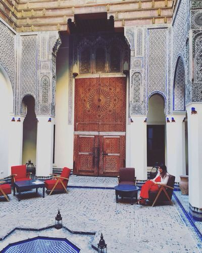 Riad Dar Bensouda Fes Morroco Hotel Morrocan Tiled Floor