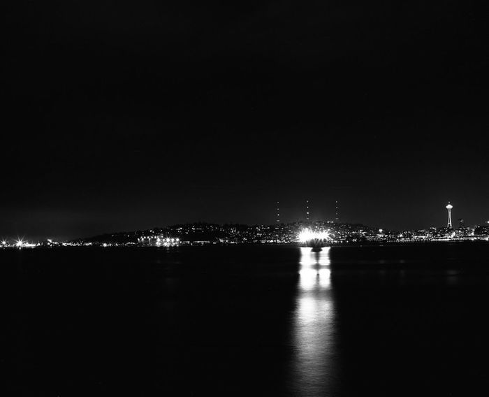 This is another late night landscape of Downtown Seattle from Alki Beach in West Seattle. Image taken with Mamiya RB67 in Fuji Acros Neopan 100. Nightphotography Blackandwhite Medium Format RB67