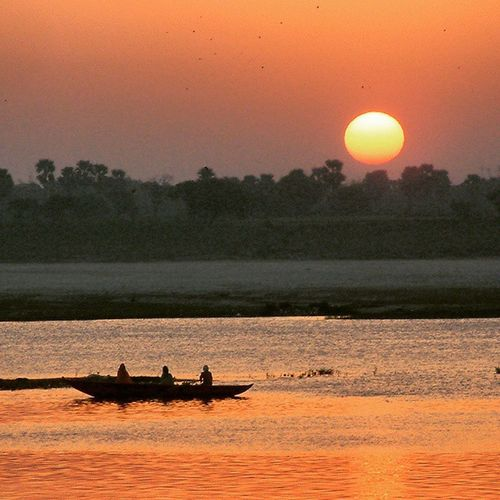 Sunset in Ganges,India. Ganges India Atardecer Sunset @natgeo Benares Varanasi River Rioganges