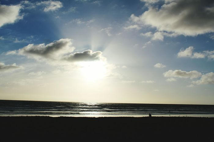 Sea Beach Horizon Over Water Water Sand Cloud - Sky Vacations Sky Travel Destinations Nature Tourism Silhouette Tranquility Sunlight Day Outdoors Summer Sunset No People Scenics Dramatic Sky Oceanside, Ca Awe