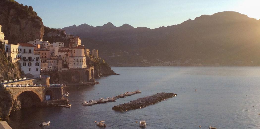 Sunrise in Atrani Amalfi Coast Holiday Summer Nature Landscape Italy Sea And Sky