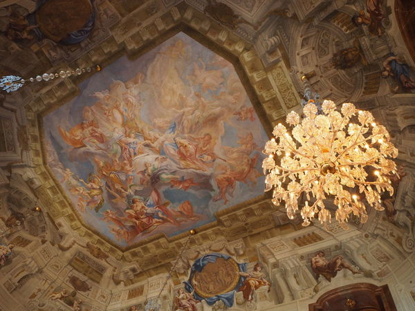 Belvedere palace, Vienna, Austria #architecture #chandelier #indoors #nopeople #palace #tourism