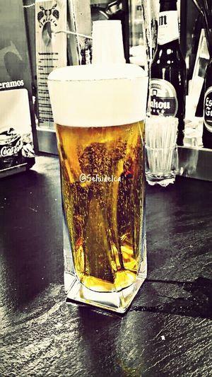 Una cervecita bien fria.