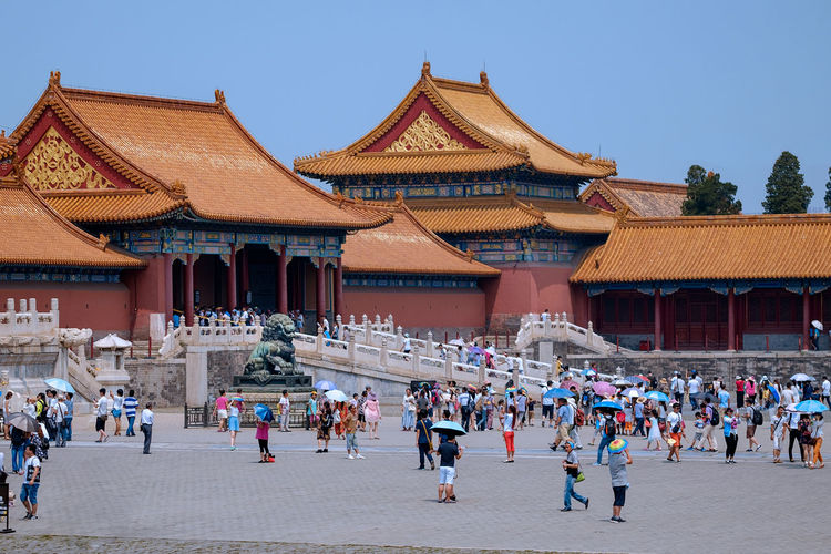 Forbidden City Architecture Building Exterior Crowd Day Large Group Of People Men Outdoors People Real People Travel Destinations Adventures In The City