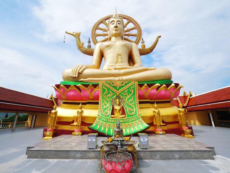 Bhuddisttemple Bhudha Temple Thailand Thailand Photos Thailandtravel Suratthani Samui_thailand Samui Island Samui Trip Statue Sculpture Spirituality Sky Travel Destinations Outdoors No People