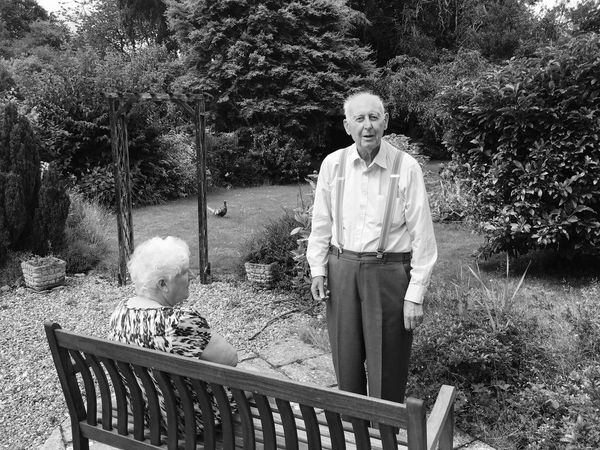 EyeEm Selects Senior Adult Senior Women Outdoors Retirement Senior Couple Norfolk Uk Black & White Parents Garden Home Garden Furniture